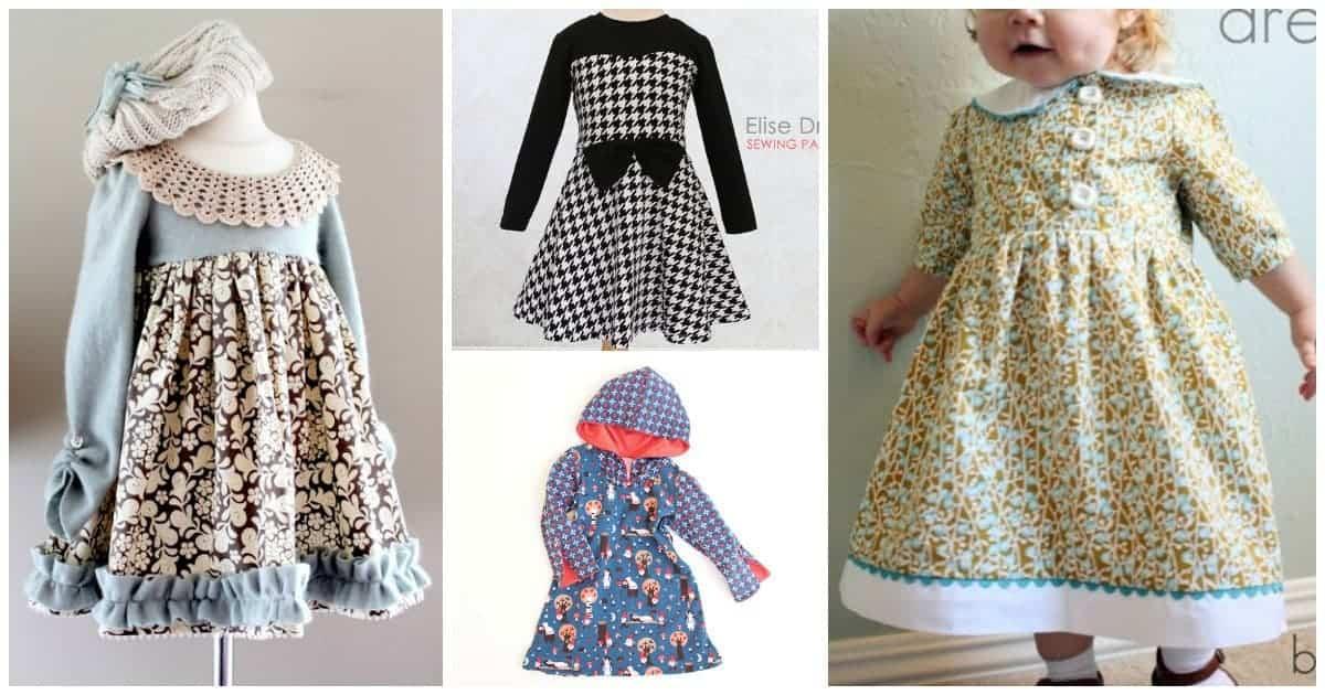 Wonderfully warm winter dress sewing patterns