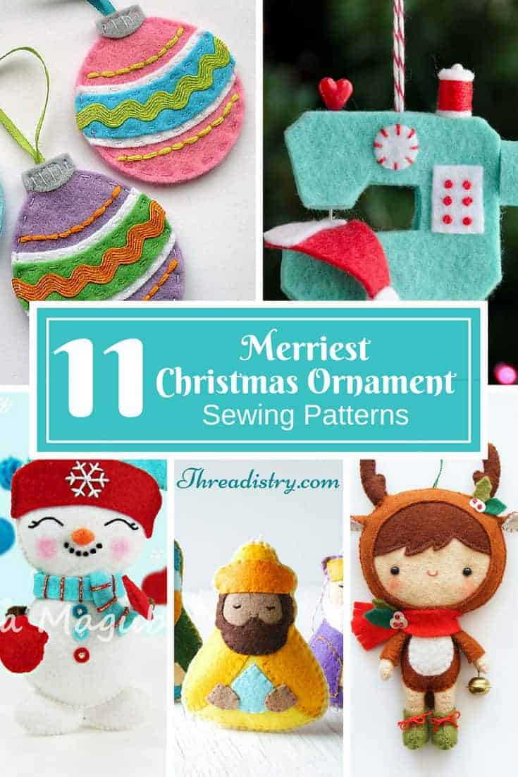 Add a special touch to the Christmas tree with these adorable DIY ornaments. Lots of cute sewing patterns to choose from!