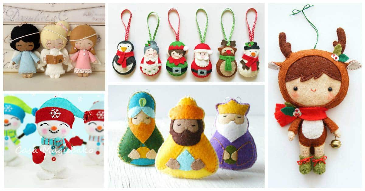 Merriest Christmas Ornament sewing patterns