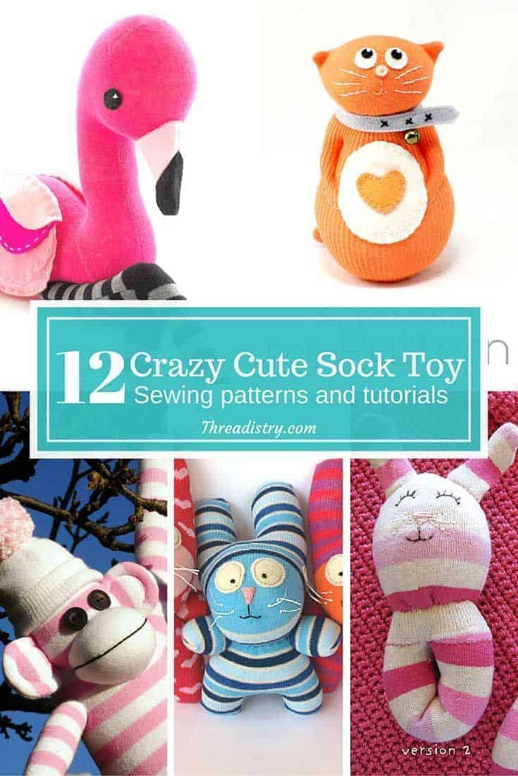 I've always loved sock monkeys, but why limit yourself to just monkeys. These DIY sock toy sewing patterns and tutorials are adorable!