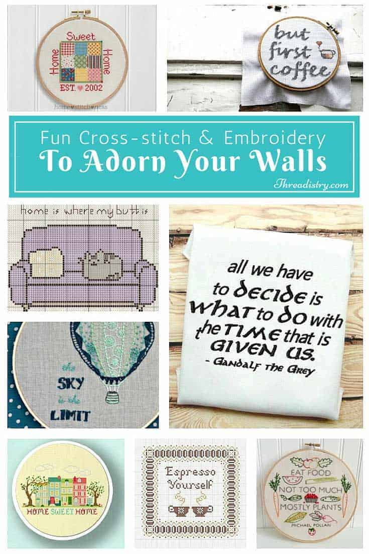 Lots of fun ideas to add a bit of cross-stitch or embroidery personality to your home. The last one is hilarious!