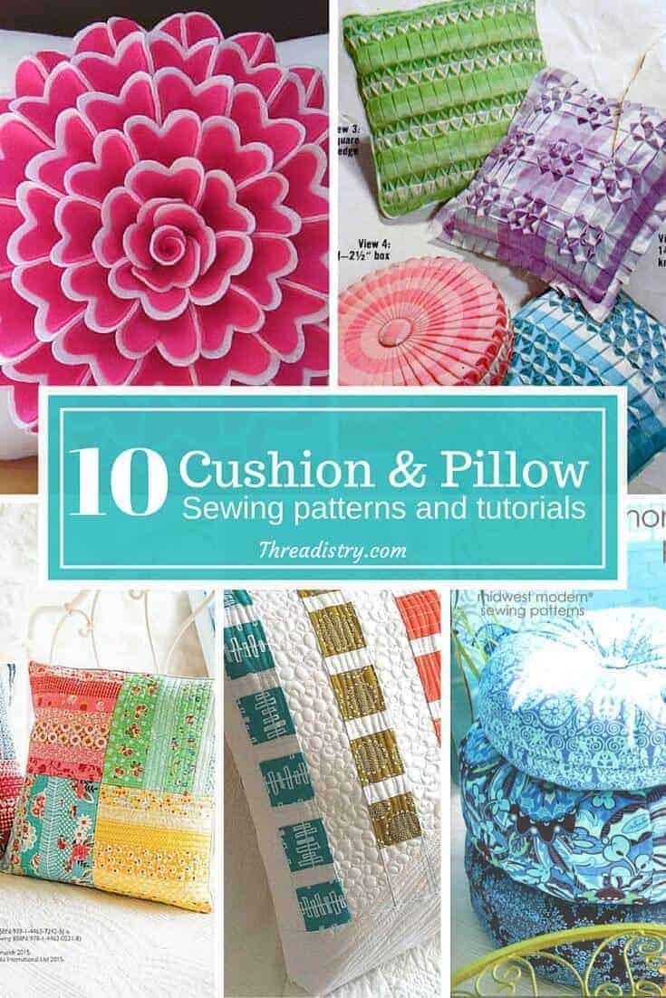 Give your house a lift for Spring by sewing some cute new pillows and cushions. There's so many cute options here. I just love the smocked ones!