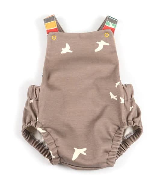 Summer baby romper sewing pattern