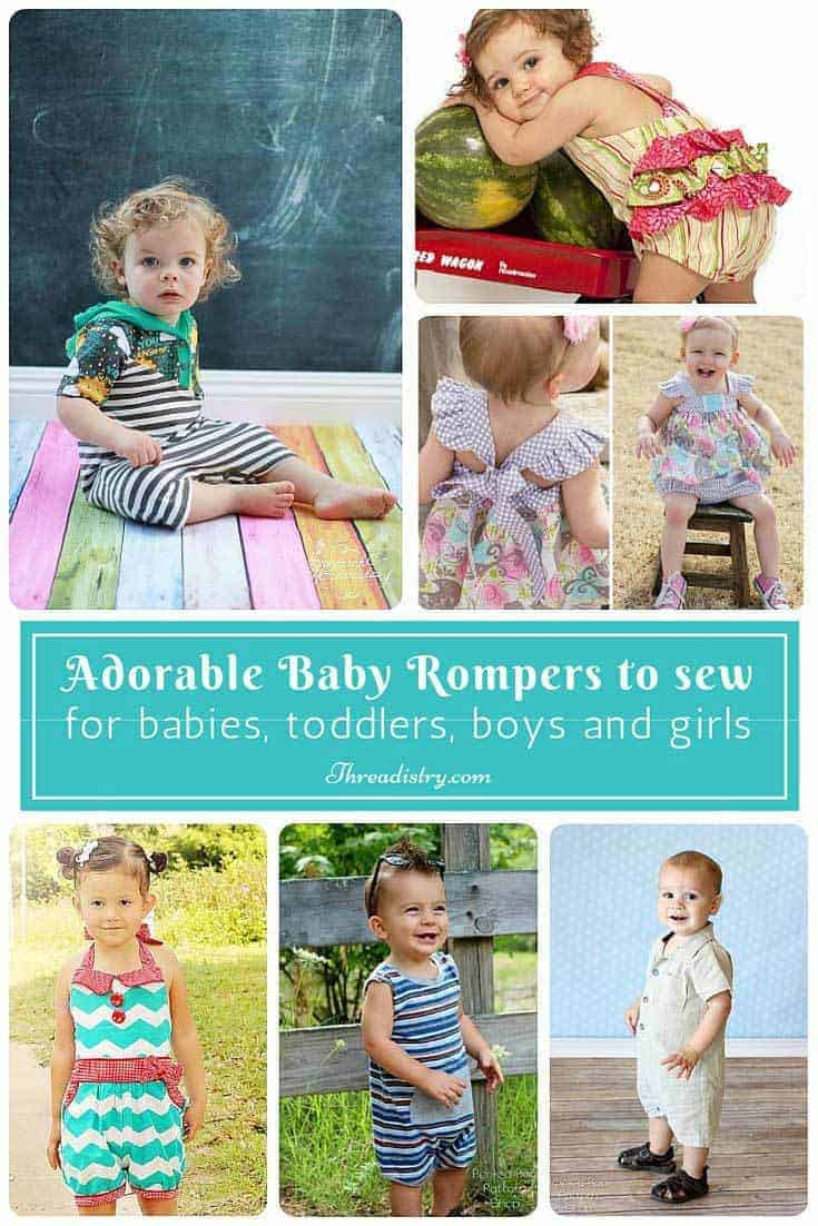 Gorgeous Baby Romper Sewing Patterns for boys and girls