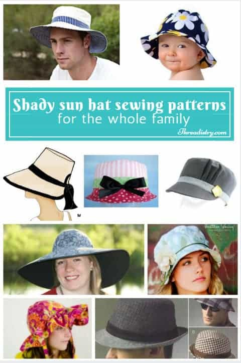 Shady sun hat sewing patterns for the whole family