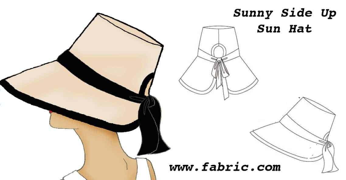 Sunny side up sun hat sewing pattern