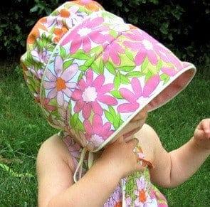 Peekaboo Baby Bonnet sewing pattern for summer