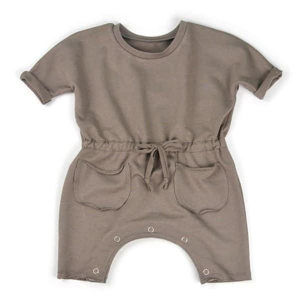 Kimono sleeve baby romper sewing pattern