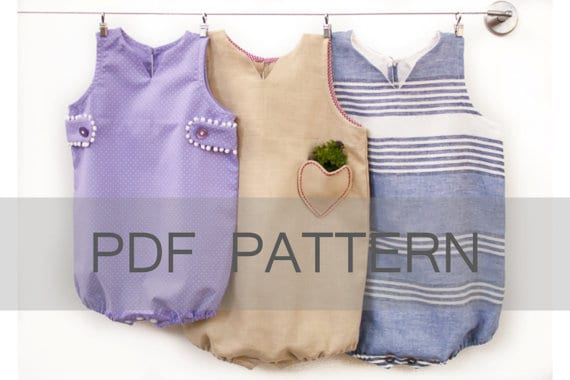 Venezia baby romper sewing pattern