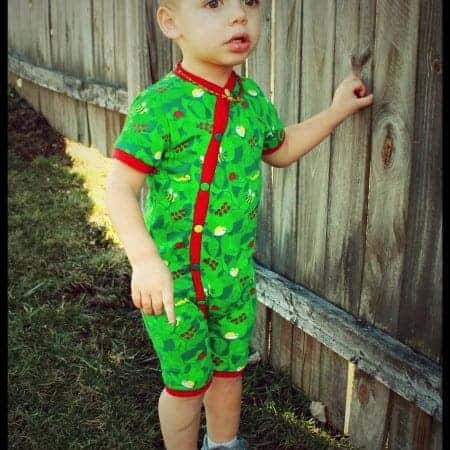 Muse playsuit romper sewing pattern for baby boys and girls