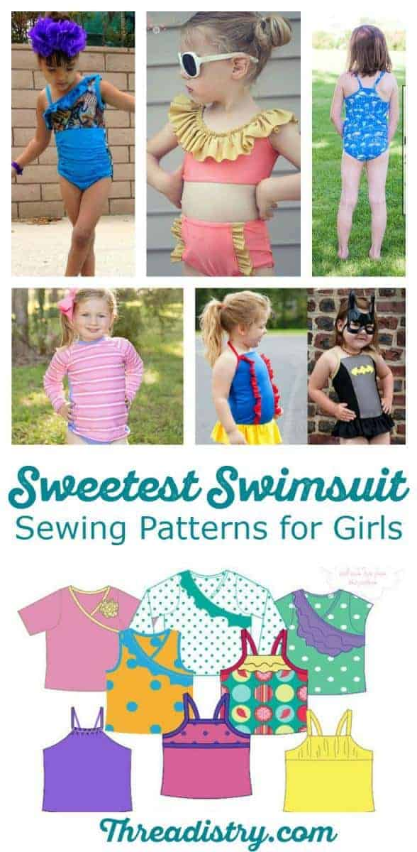 Summer means swimming. When I'm heading to the beach or pool, I love seeing my little girl in cute handmade swimmers. This is a gorgeous collection of swimsuit sewing patterns for girls, including one-piece, bikinis, tankinis and rashis.