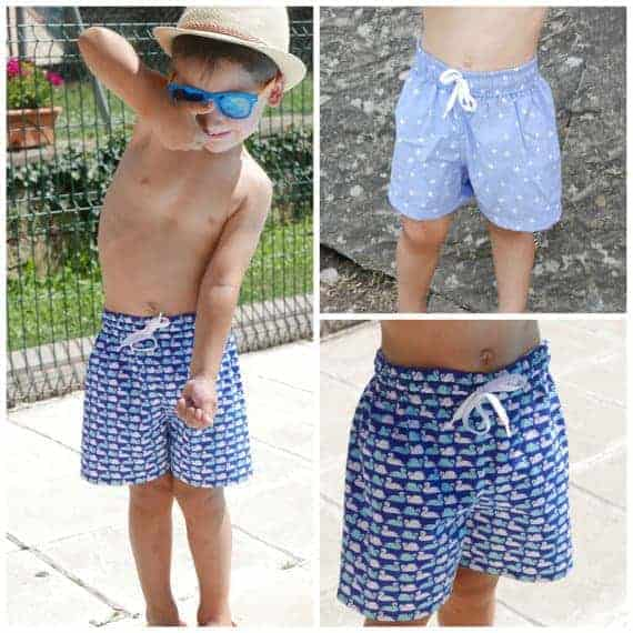 Little Boy Swim Shorts sewing pattern by Colours for Baby on Etsy