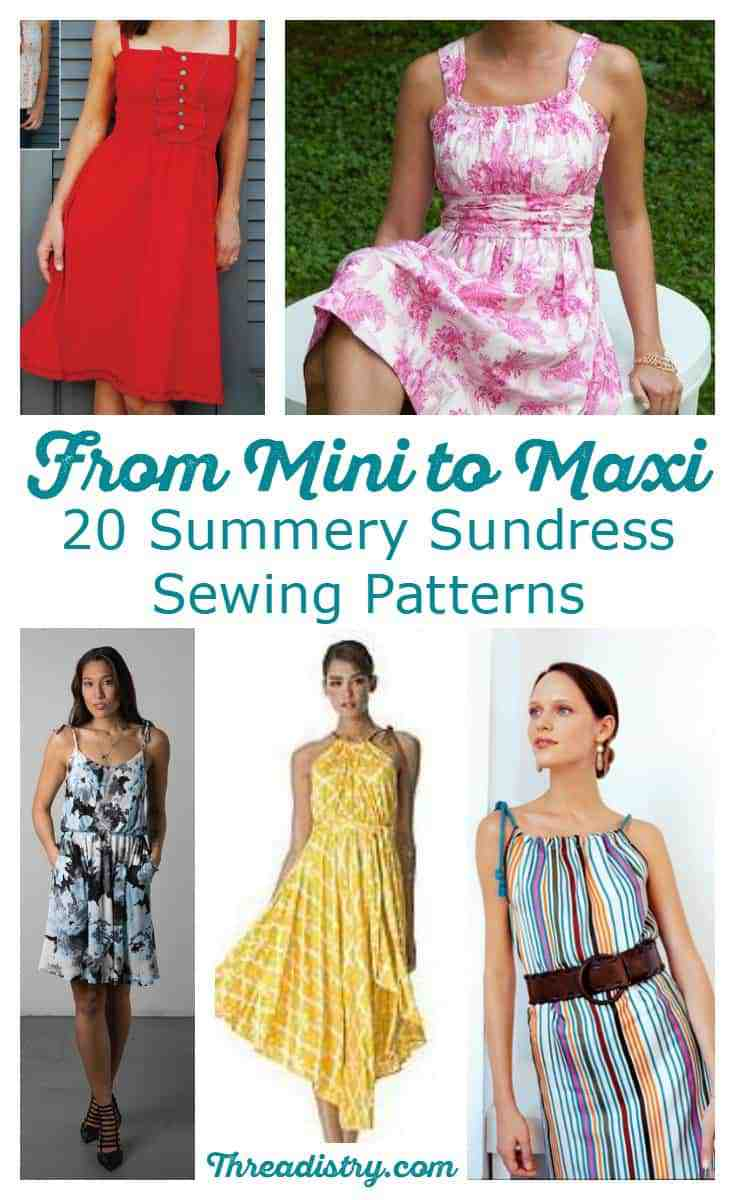 From maxi to mini, find the perfect summer sundress sewing pattern with this fun collection. Some great beginner sewing projects as well as more detailed dresses for the experienced sewist. Time to sew something cool and feminine!
