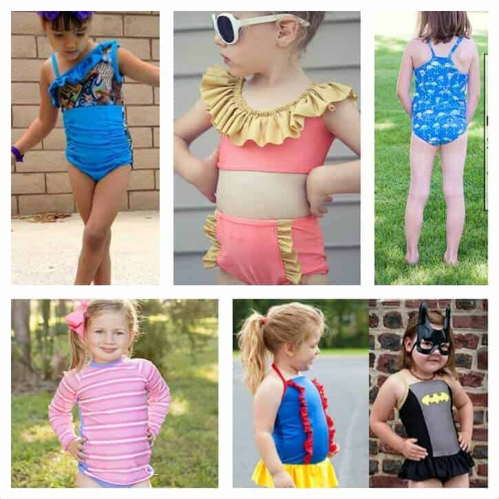 Sweetest Swimwear Sewing Patterns for Girls