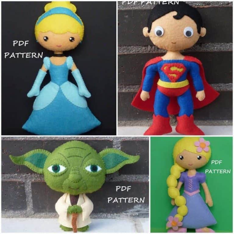 Fabulous felt doll sewing patterns for everyone