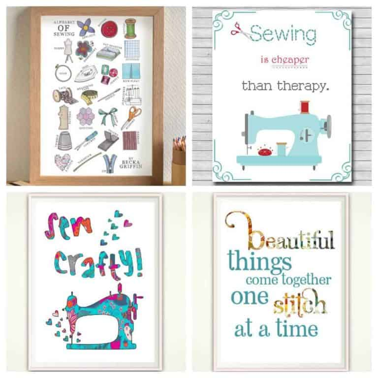 Decorate your space with Sewing Wall Art
