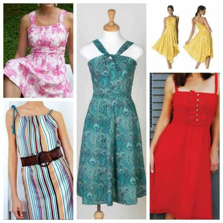 Summery Sundress sewing patterns