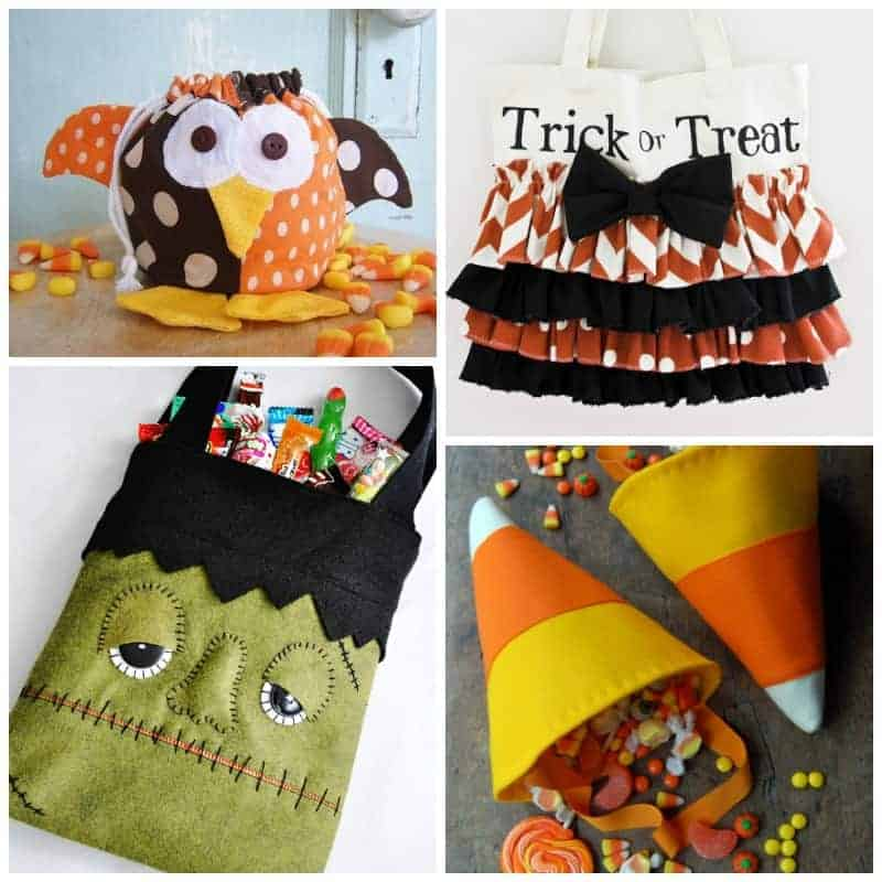 Trick or Treat Bag Sewing Patterns Square
