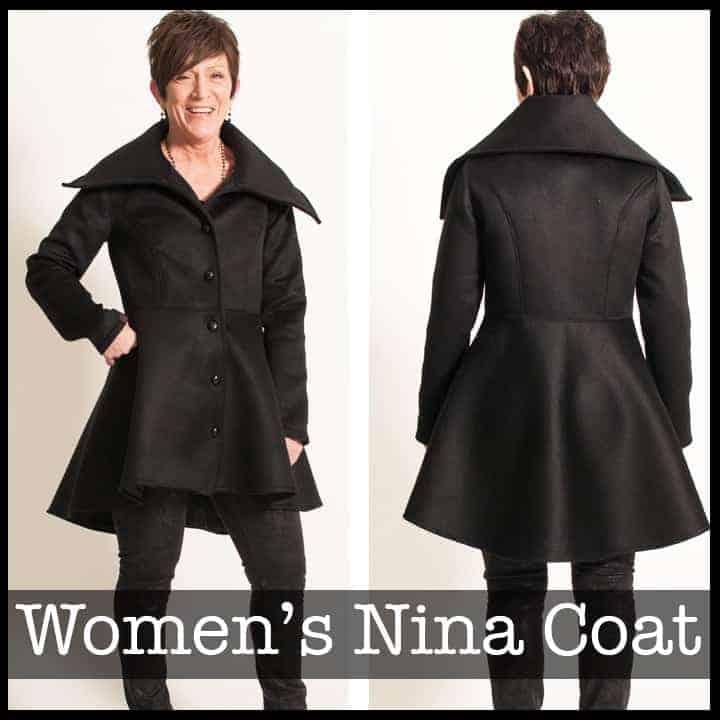 Nina Coat sewing pattern from Shwin Designs
