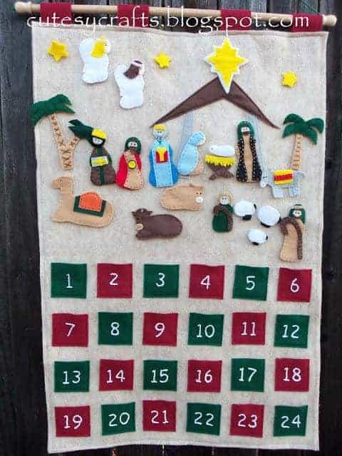 DIY felt nativity advent calendar sewing tutorial
