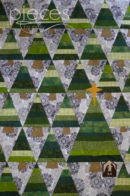 Christmas in the Trees Free Nativity Quilt sewing pattern
