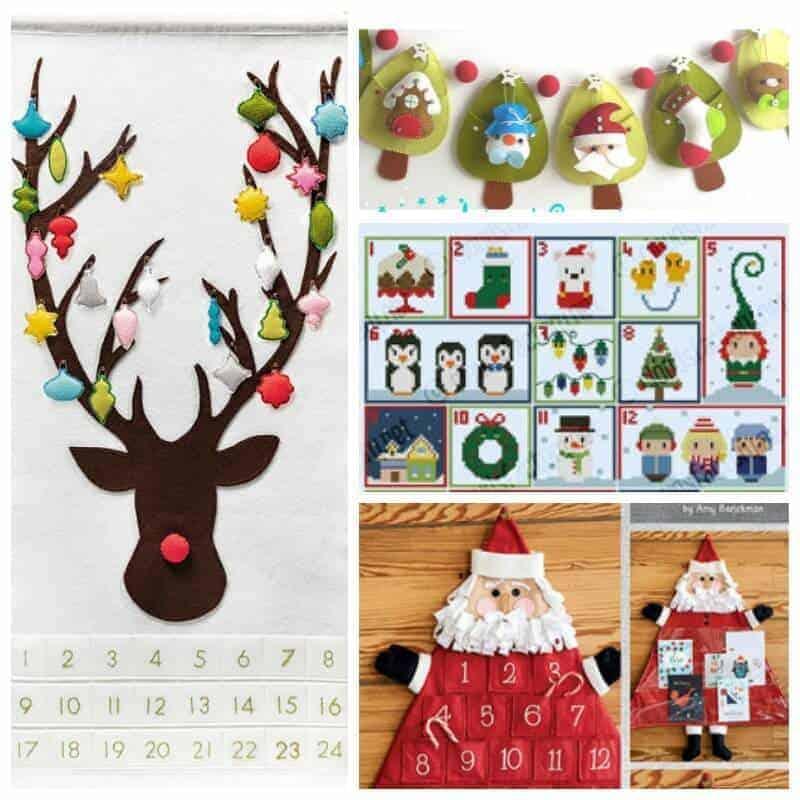 Advent Calendar Sewing Patterns SQ