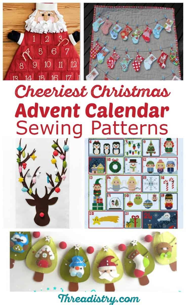 Craft a Christmas heirloom with these advent calendar sewing patterns, from traditional to modern. Create your own DIY family holiday tradition.