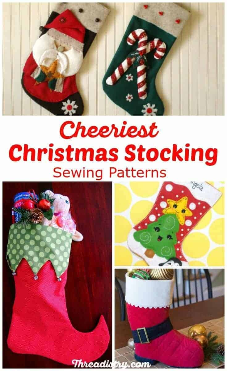 Sew up some Christmas spirit with these gorgeous Christmas stocking sewing patterns. I love all the felt Christmas stocking patterns, but maybe I should make the whimsical Elf stocking. The Ladies stocking is something different!