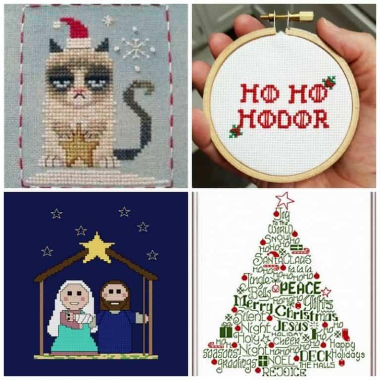 Festive Christmas Cross-stitch Patterns