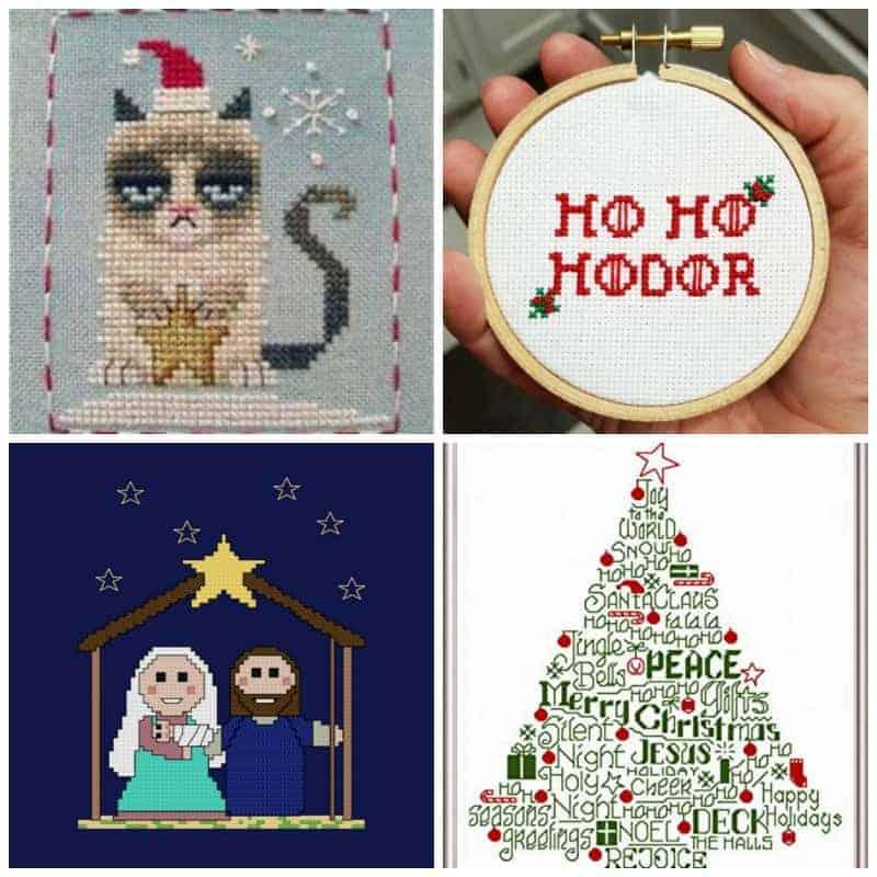 Festive Christmas Cross Stitch Patterns SQ
