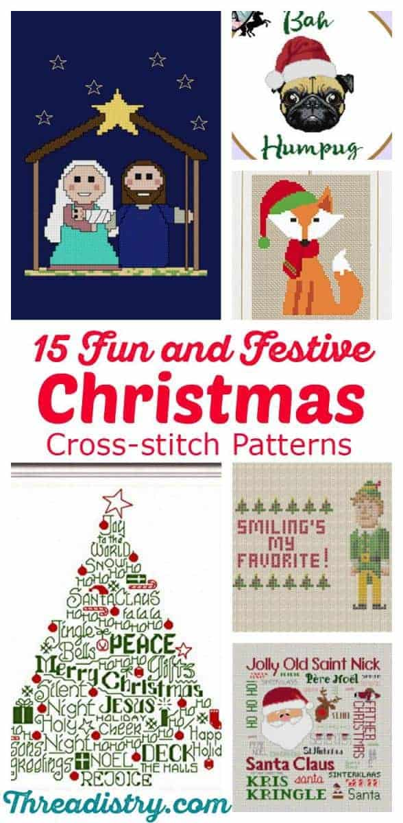 Add a personal touch to the festive season with these Christmas cross-stitch patterns. Modern, traditional, funny or geeky, get out your thread and do some Christmas stitching!