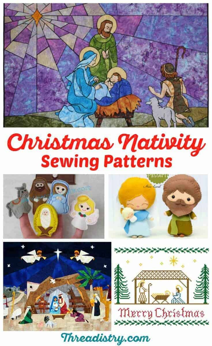 Celebrate the true meaning of Christmas with these Christmas Nativity sewing patterns. From finger puppets to quilt nativity scene patterns, start your Christmas sewing now. I love the walking finger puppets!