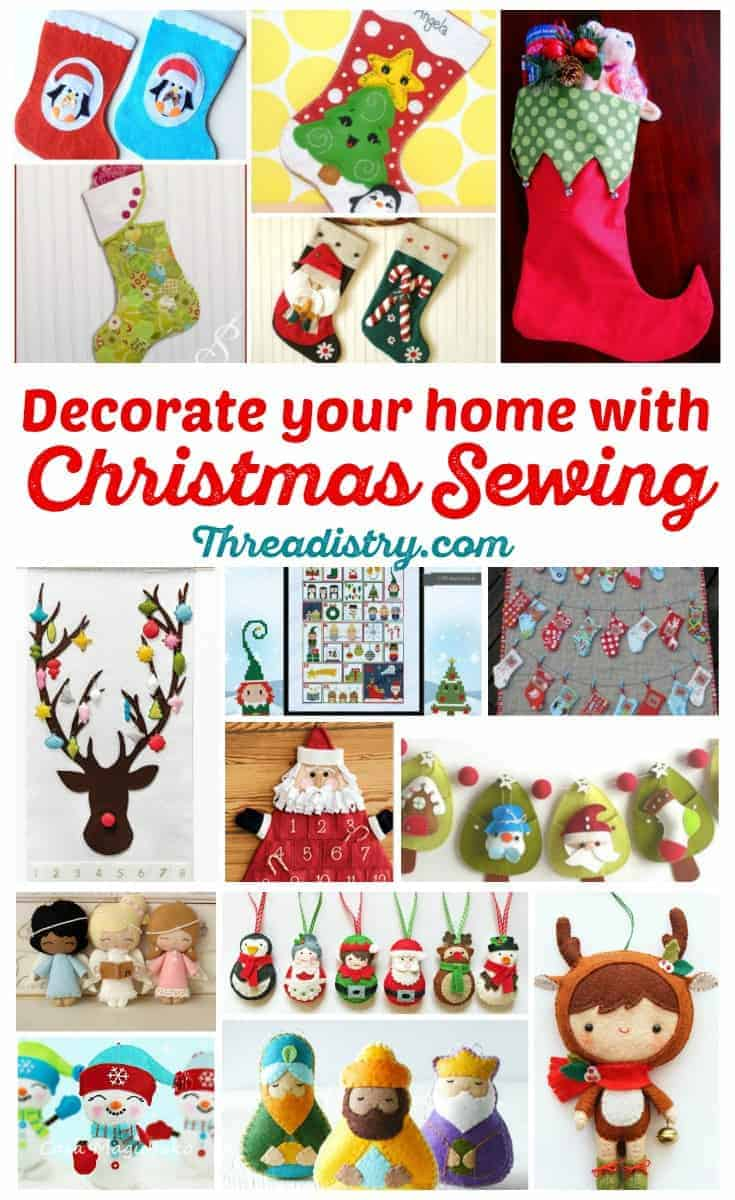 So many great Christmas sewing project ideas here. Time to get out the Christmas fabrics!