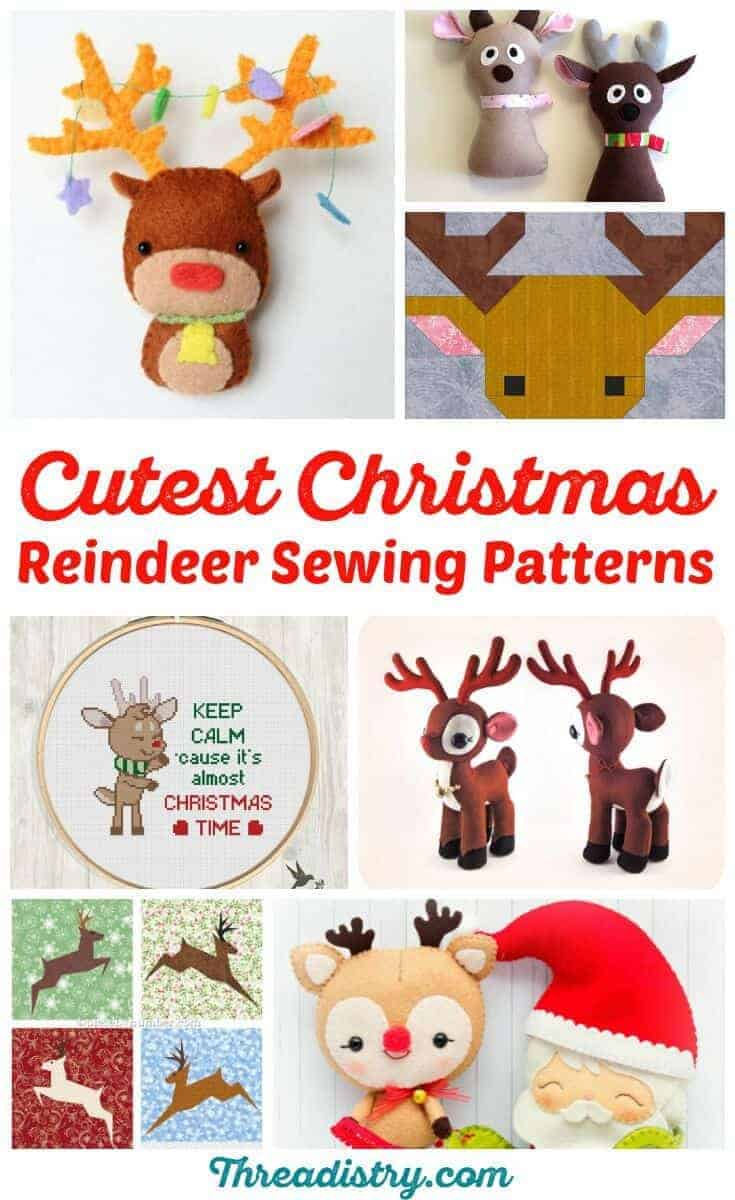 Why don't I have a DIY Rudolph the Red-Nosed Reindeer decoration? He's my favourite Christmas character! Time to try some of these reindeer sewing patterns. But should I sew a quilt block, cross-stitch or sew a softie or plush toy?