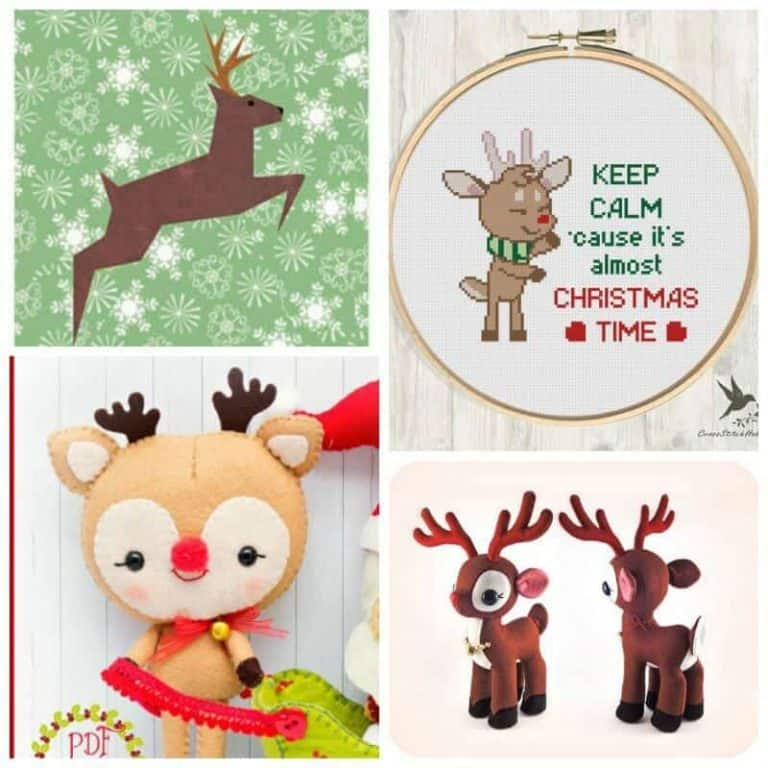 Make your Christmas glow with 21 Reindeer sewing patterns