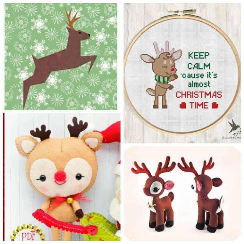 Cutest Christmas Reindeer Sewing Patterns_SQ