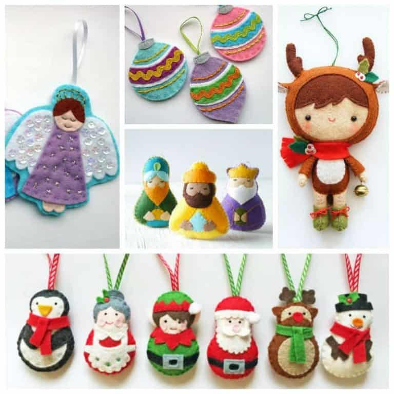 11 Merriest Christmas Ornament Sewing Patterns