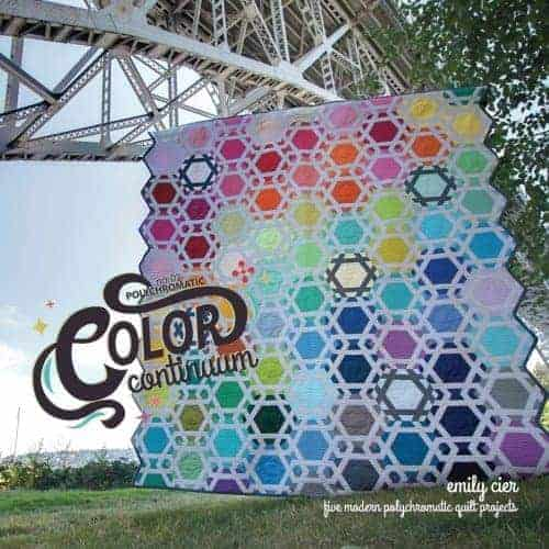 Snood is one of the gorgeous rainbow quilts from the collection Color Continuum -- no. 02 polychromatic by Carolina Patchworks.