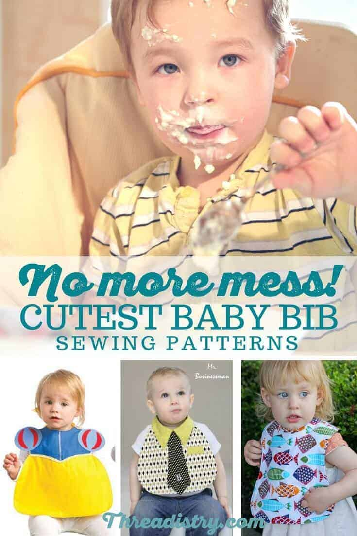 I love making baby bibs for DIY baby shower gifts. Lots of different baby bib sewing patterns and tutorials to choose from here. Some are even free! The flower one would look adorable on a diaper cake!