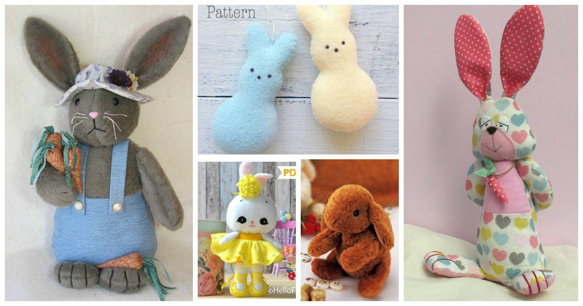 Easter bunny sewing patterns are a great baby shower gift or present for a baby's first Easter. They are also fun DIY Easter decorations and are a great sewing project.