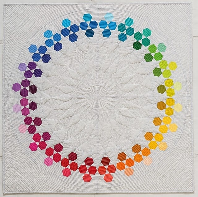 """Huckleberry Quilt from the book """"Modern Rainbow: 14 Imaginative Quilts That Play with Color"""""""