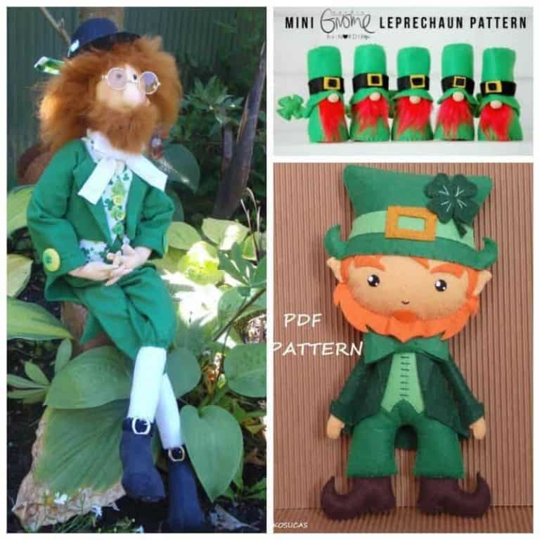 Get the luck of the Irish with Leprechaun Doll sewing patterns