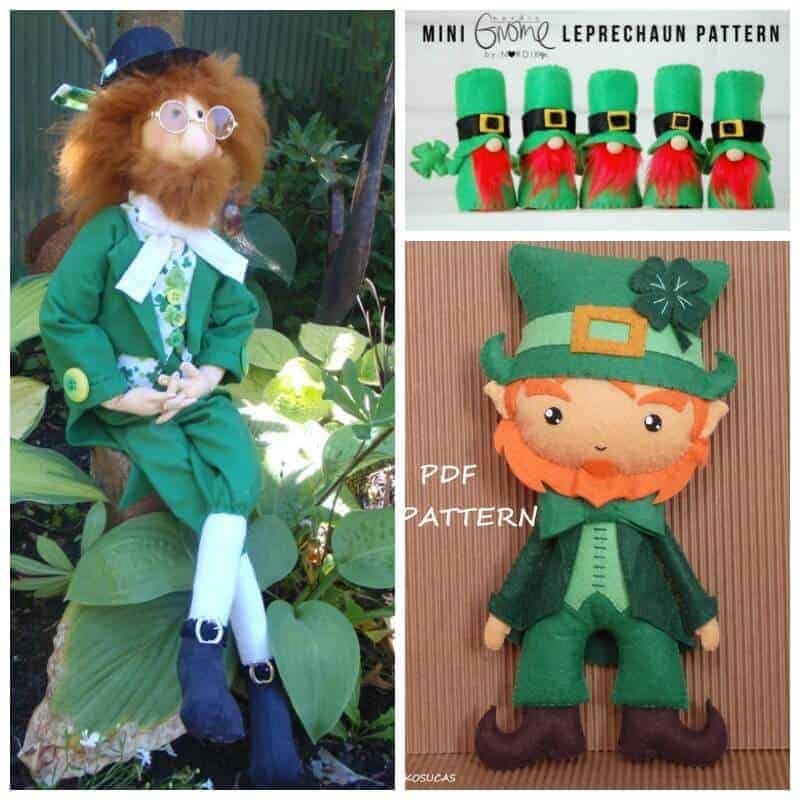 Leprechaun doll sewing patterns SQ