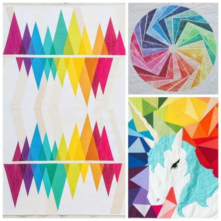 Brighten your day with Rainbow Quilt Designs