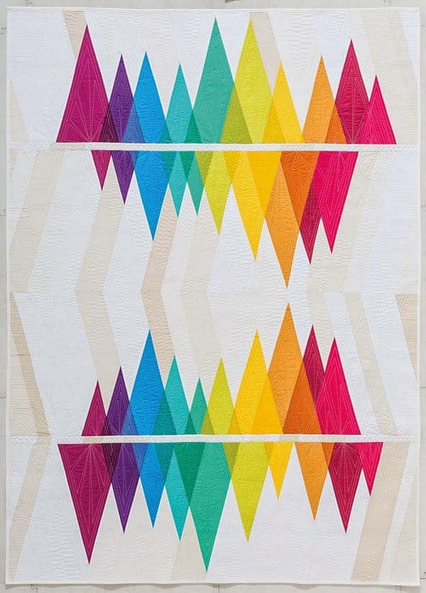 """Wavelength from the book """"Modern Rainbow: 14 Imaginative Quilts That Play with Color"""" by Bryan House Quilts"""