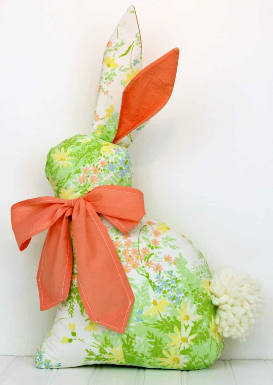 Modern Folksy Bunny sewing pattern from Gingercake