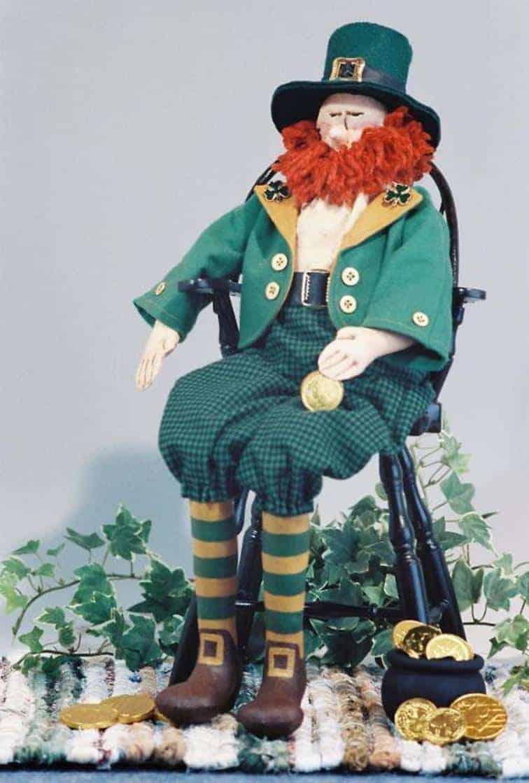 Irish Leprechaun doll sewing pattern from Fruitfull Hands Dolls