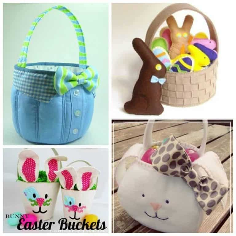 Cute and easy DIY Easter Basket sewing inspiration