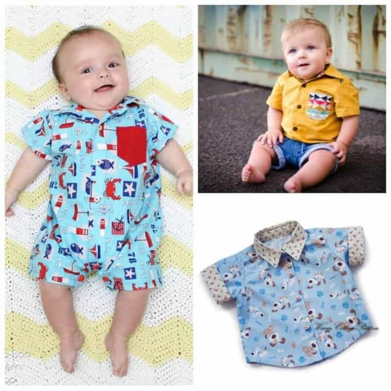 Baby shirt patterns for the cutest boy in town