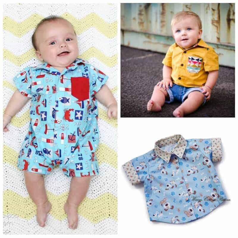 Baby shirt sewing patterns SQ